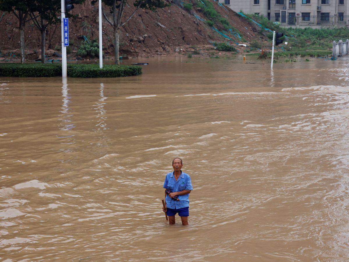 Foto: Zonas inundadas en Zhengzhou, provincia de Henan. (Reuters)