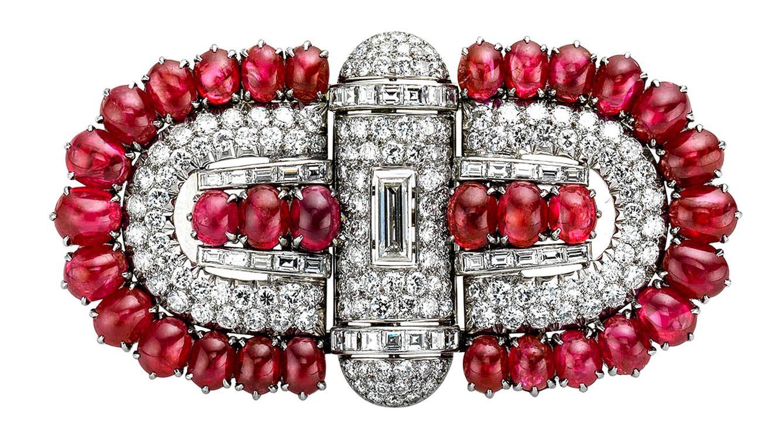 Foto: Broche de diamantes Bulgari, presente en la exposición del Museo Thyssen-Bornemisza.