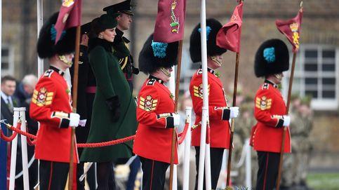 Kate Middleton y el príncipe Guillermo presiden los actos de homenaje en el día de San Patricio
