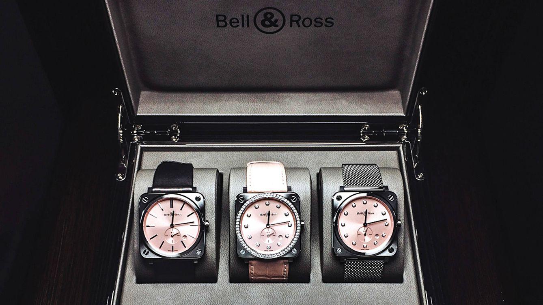 Foto: Las tres versiones del BR S Novarosa. De izquierda a derecha, la más sencilla; con diamantes en bisel e índices y con diamantes solo en los índices.