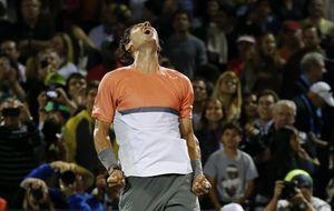 Nadal remonta a Raonic para firmar el pase a las semifinales de Miami