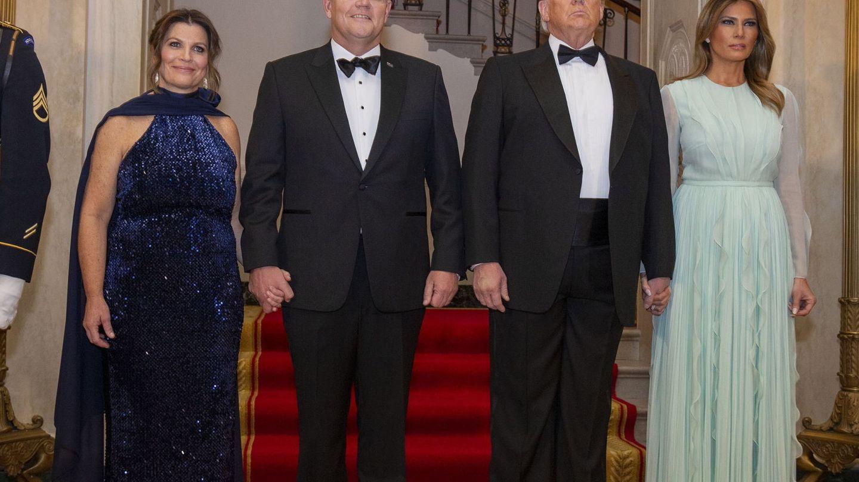 El matrimonio Trump, con el Primer Ministro de Australia y su mujer. (EFE)