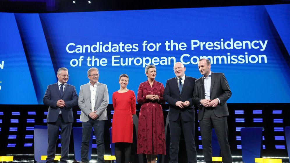 Foto: Candidatos a la presidencia de la Comisión Europea antes del debate. (Reuters)