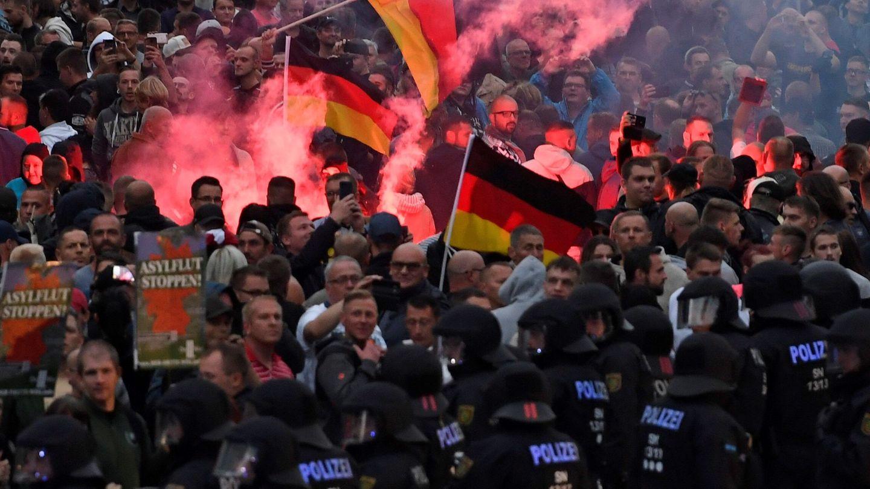Los disturbos en Chemnitz derivaron en 'cacerías' de inmigrantes que horrorizaron a Alemania (EFE)