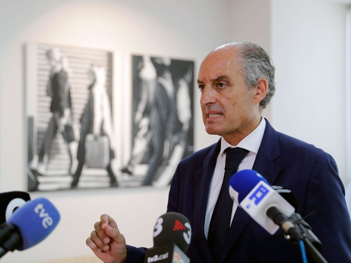 Foto: El expresidente de la Generalitat Valenciana, Francisco Camps, hoy. (EFE)