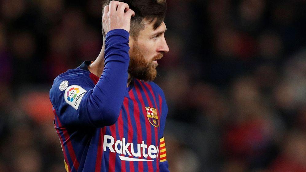 Foto: Leo Messi durante un partido con el Barcelona en el Camp Nou. (Efe)