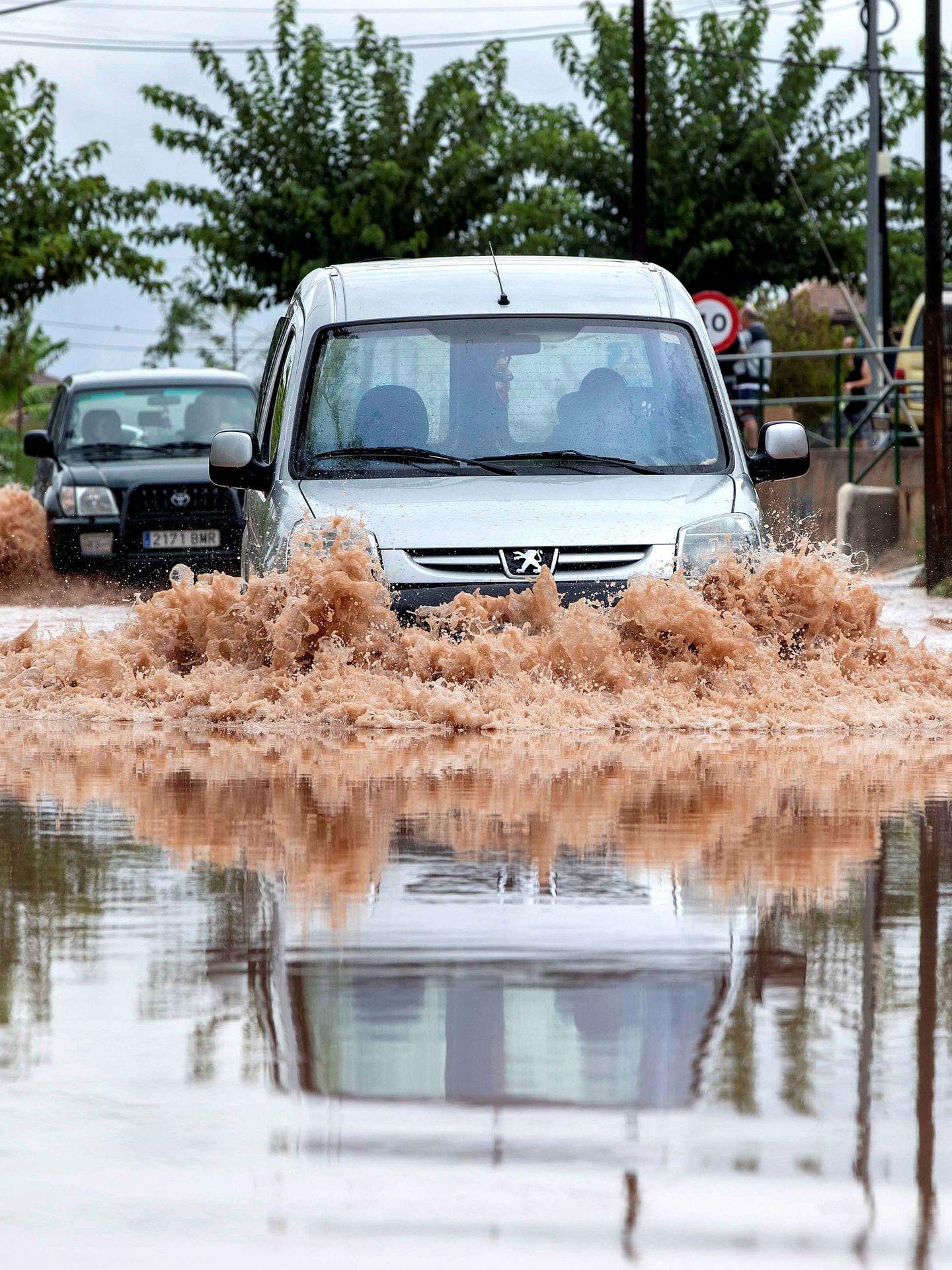 La pedanía murciana de Los Ramos este viernes tras la intensas lluvias. (EFE)