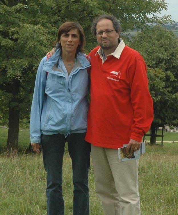 Foto: Carola Miró y su marido, Quim Torra. (Carolamiro.net)