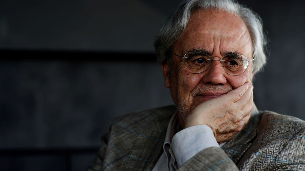 Foto: Manuel Gutiérrez Aragón en la presentación de 'El ojo en el cielo'. (Efe)