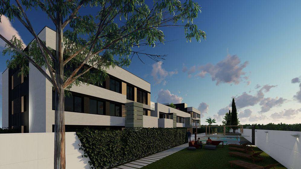Foto: Primera promoción de Vía Célere 100% industrializada en Boadilla del Monte.