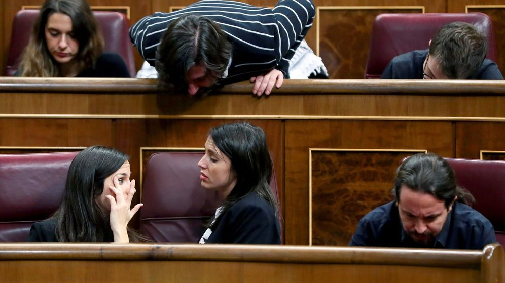 Foto: Los diputados de Unidos Podemos en el Congreso. (EFE)