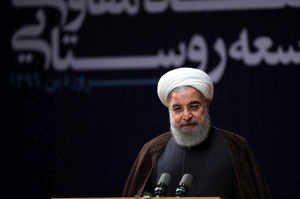 Foto: El presidente de Irán, Hassan Rohaní, durante una ceremonia en Teherán, el 8 de abril de 2017. (EFE)