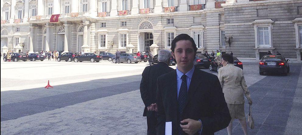 Foto: Francisco Nicolás, durante la ceremonia de proclamación de Felipe VI.
