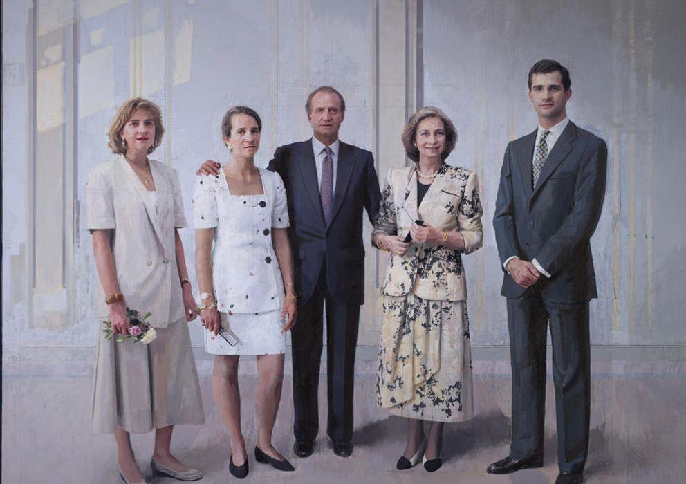 Foto: 'La familia de Juan Carlos I', obra del artista Antonio López
