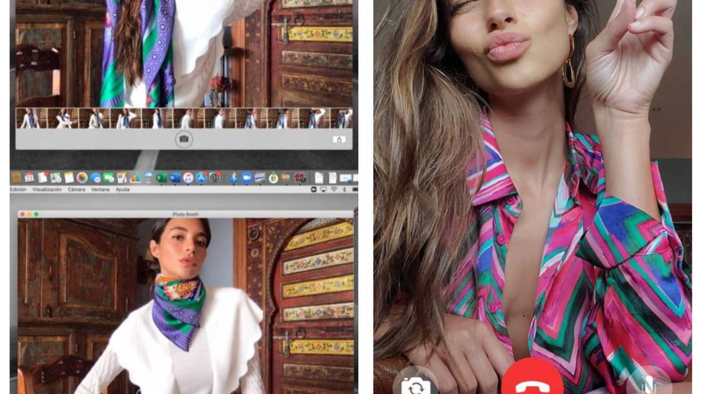 Dos de los stories de Rocío Crusset con prendas de Uterqüe. (Instagram @rociocrusset)