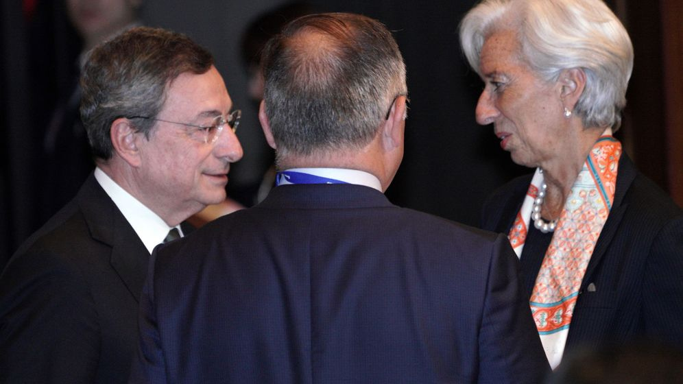 Foto: Mario Draghi y Christine Lagarde, en un acto en Fráncfort. (Reuters)