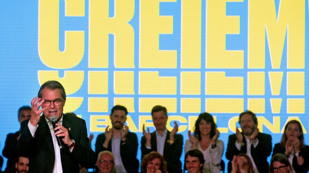 Foto: El expresidente de la Generalitat, Artur Mas, durante el acto de inicio de campaña que JxCat (Efe)