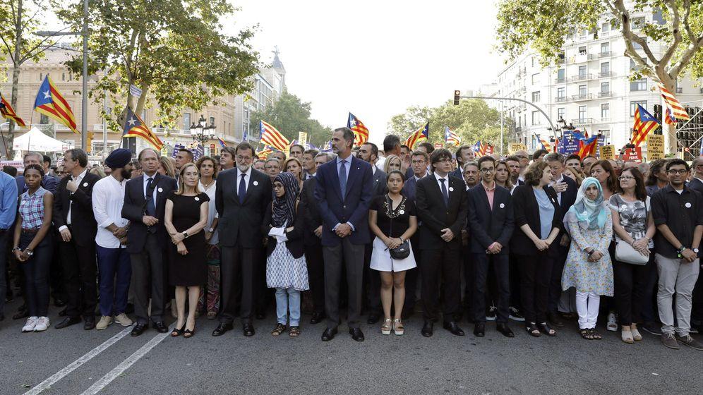 Foto: La manifestación contra el terrorismo recorrió las calles de Barcelona. (EFE)