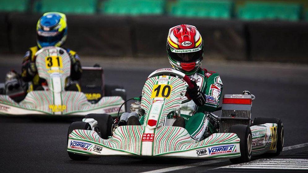 Foto: David Vidales es subcampeón mundial de kart. (Federación de Automovilismo)