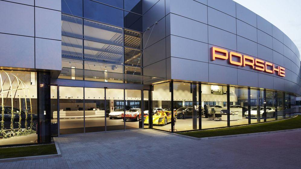 Foto: Aspecto moderno de la nueva sede de Porsche Ibérica y del Centro Porsche Madrid Norte.