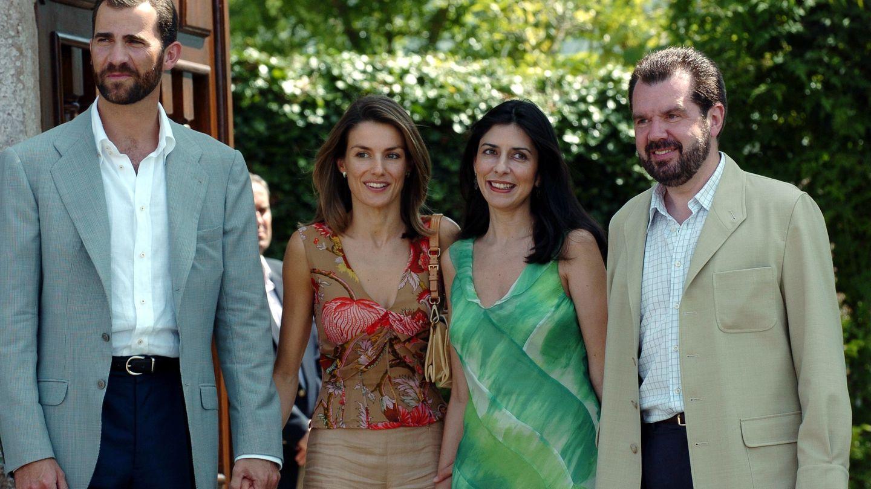 Los príncipes de Asturias junto a Ana Togores y Jesús Ortiz (Gtres)