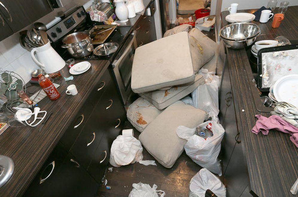 Foto: Así quedó la cocina de la vivienda
