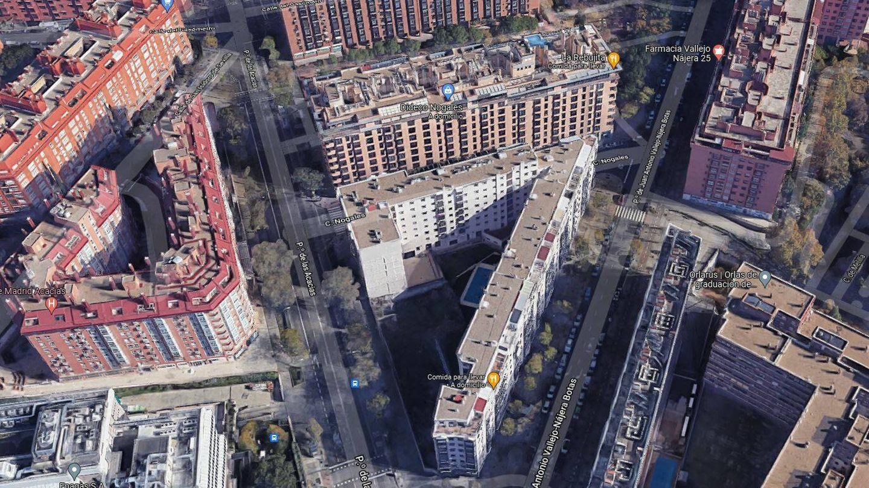 Vista aérea del solar.