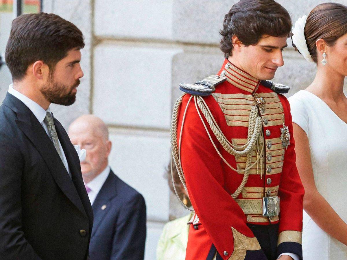 Foto: Fernando Palazuelo, junto a los duques de Huéscar. (EFE)