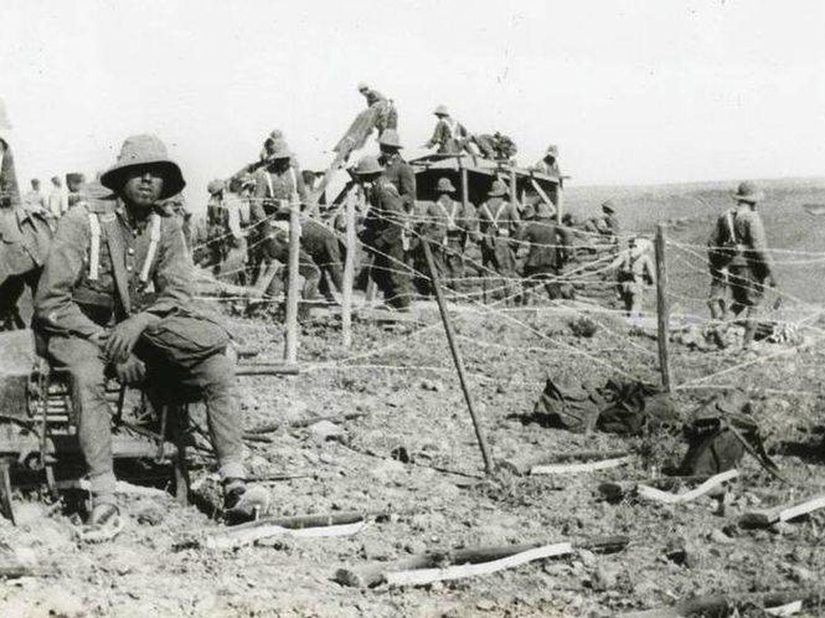 Foto: Militares españoles en un blocao en 1921. Foto: Wikipedia