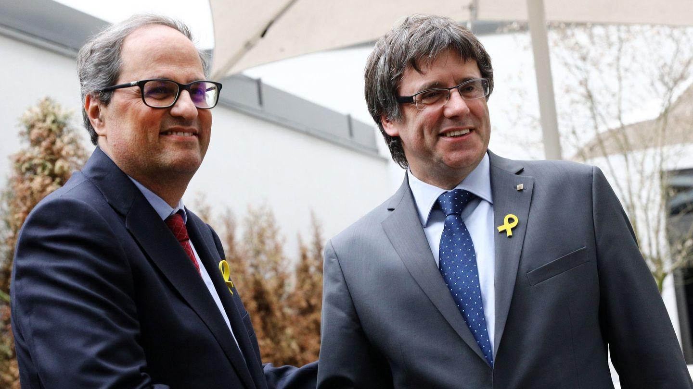 Quim Torra visita a Carles Puigdemont en Berlín. (EFE)