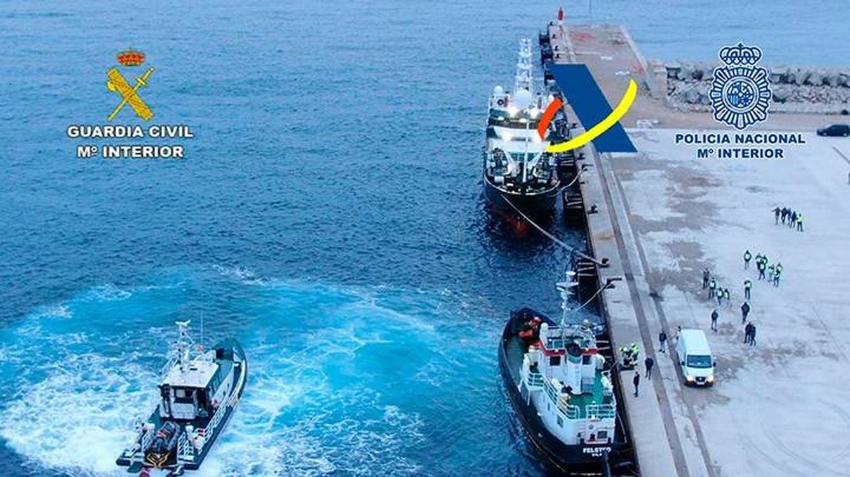 Un remolcador reconvertido, un sigiloso abordaje y siete toneladas de hachís