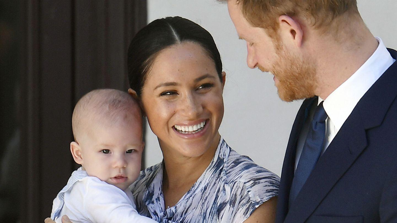 Meghan, Harry y Archie, en una imagen de archivo. (Reuters)