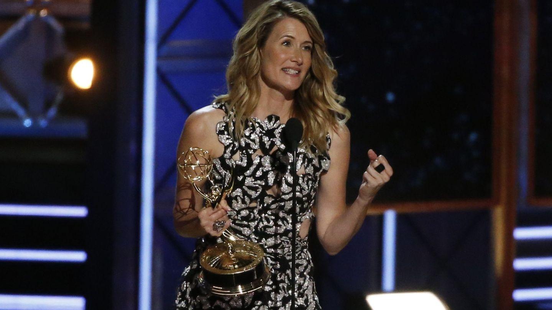 Laura Dern agradeciendo su Emmy (Reuters)