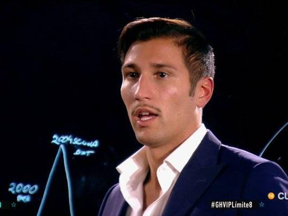 Foto: Gianmarco, en 'GH VIP 7'. (Telecinco)