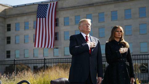 El criticado empujón de Donald Trump a su mujer delante de las tropas