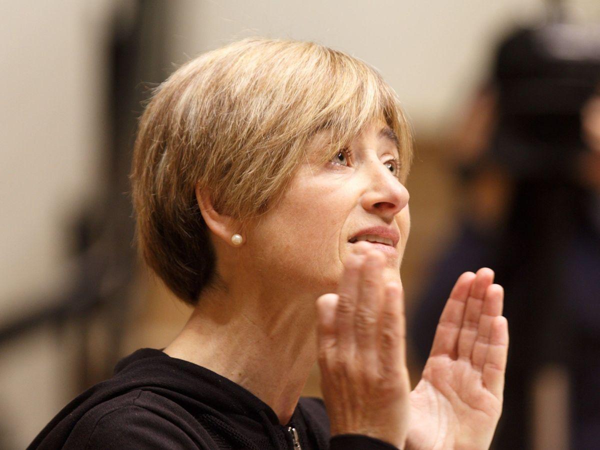 Foto: Pili Zabala en 2019, cuando era parlamentaria de Elkarrekin Podemos. (EFE)