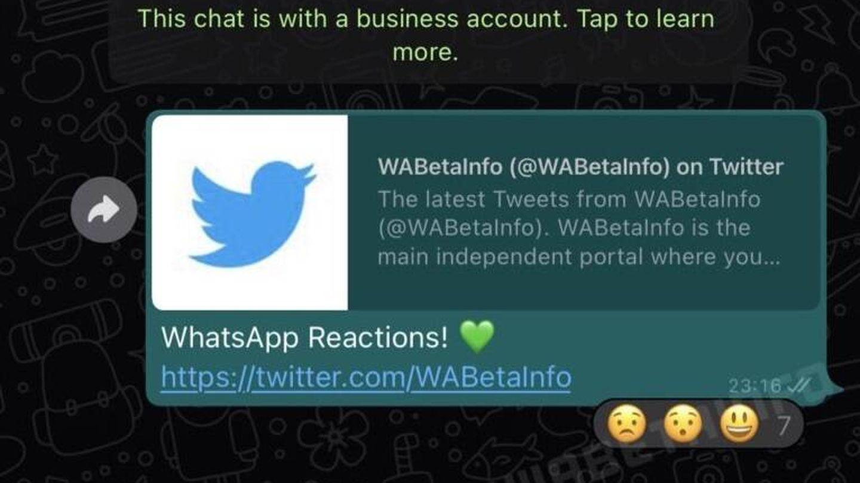Así serían las reacciones de WhatsApp. (WABetaInfo)