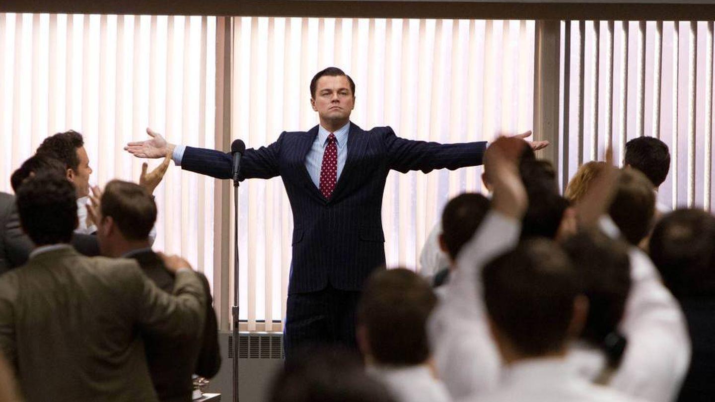 Leonardo DiCaprio en una de las escenas de 'El lobo de Wall Street'.