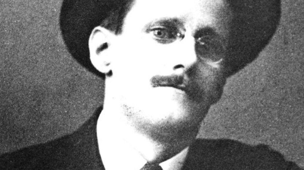 Foto: El dublinés James Joyce, autor de 'Finnegans Wake'.