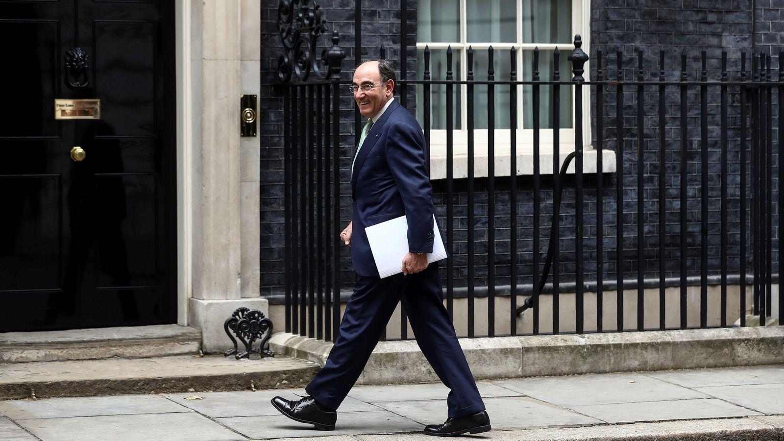 Foto: Foto de archivo del presidente de Iberdrola a su llegada a Downing Street. (Reuters)