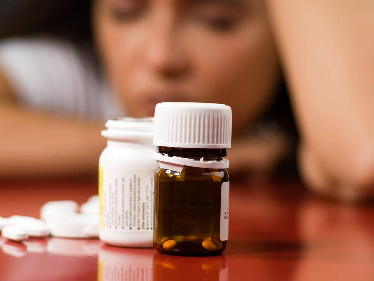 Foto: Tarro de pastillas con antidepresivos