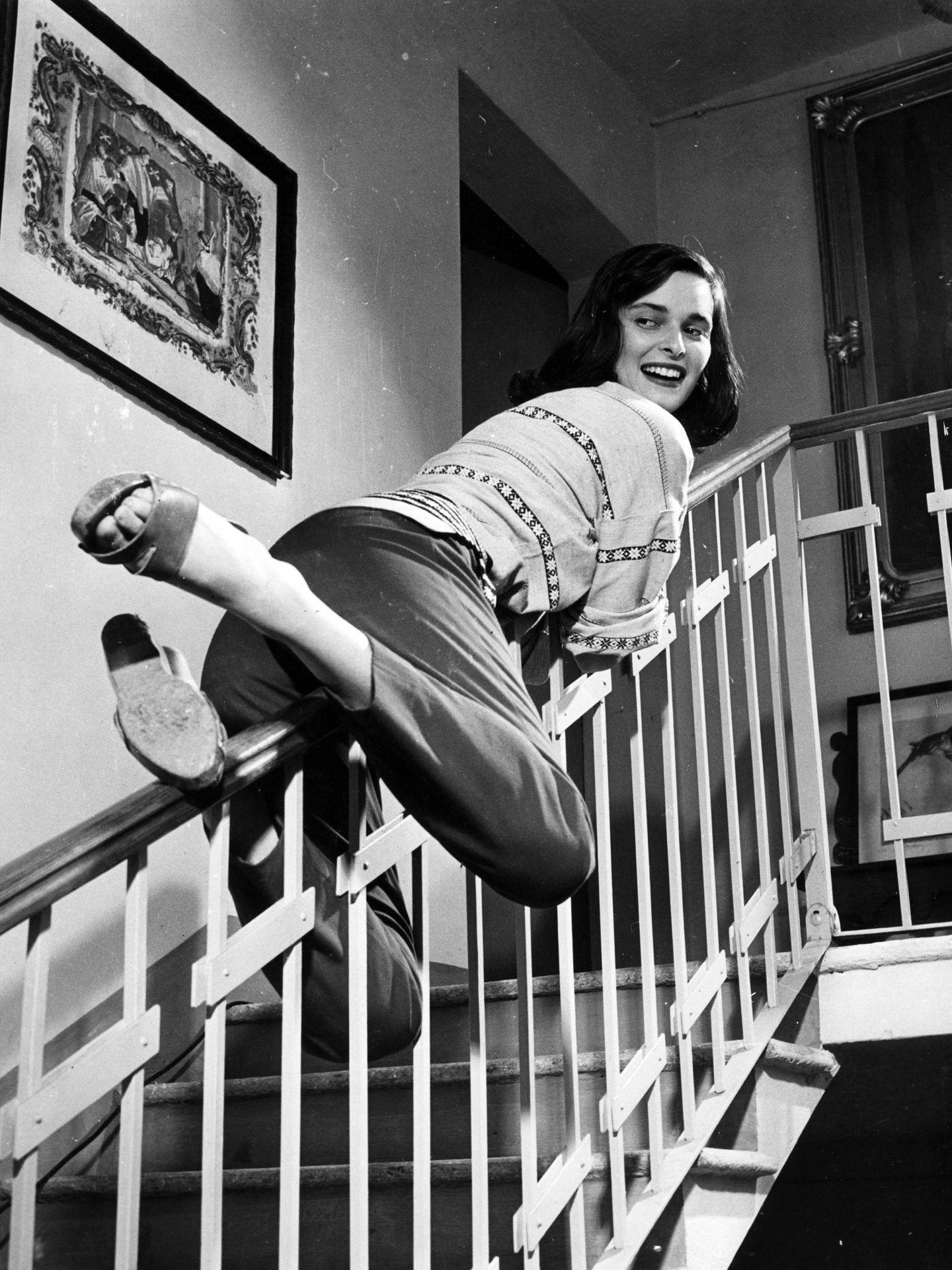 Lucía Bosé, en un divertido gesto. (Cordon Press)