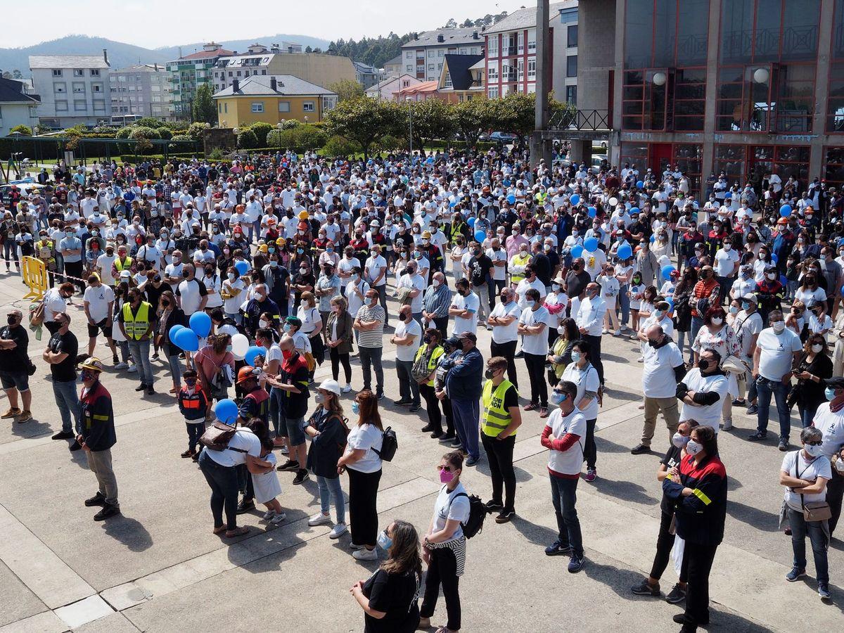 Foto: La protesta en Xove. (EFE)