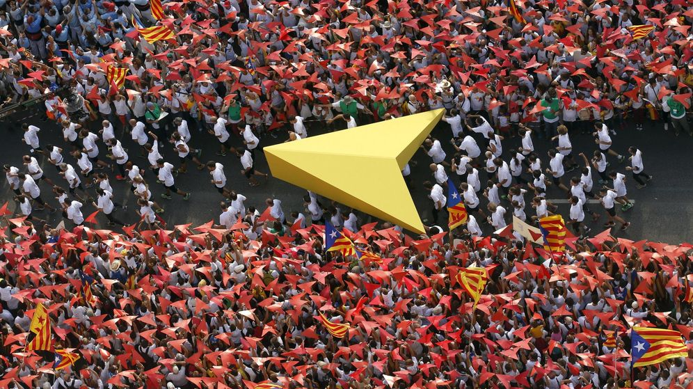 Foto: Manifestación con motivo de la Diada de Cataluña. (Reuters)