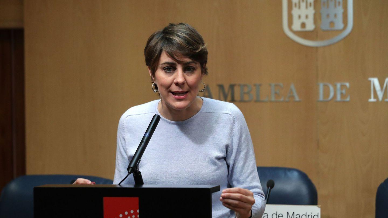 La portavoz del grupo parlamentario Podemos en la Asamblea de Madrid, Lorena Ruiz-Huerta. (EFE)