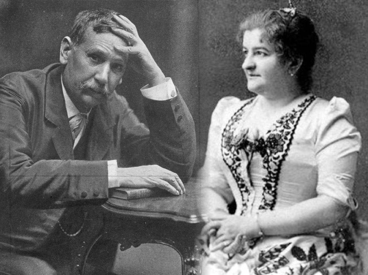 Foto: Benito Pérez Galdós y Emilia Pardo Bazán, en un fotomontaje. (Getty / Archivo da Real Academia Galega)