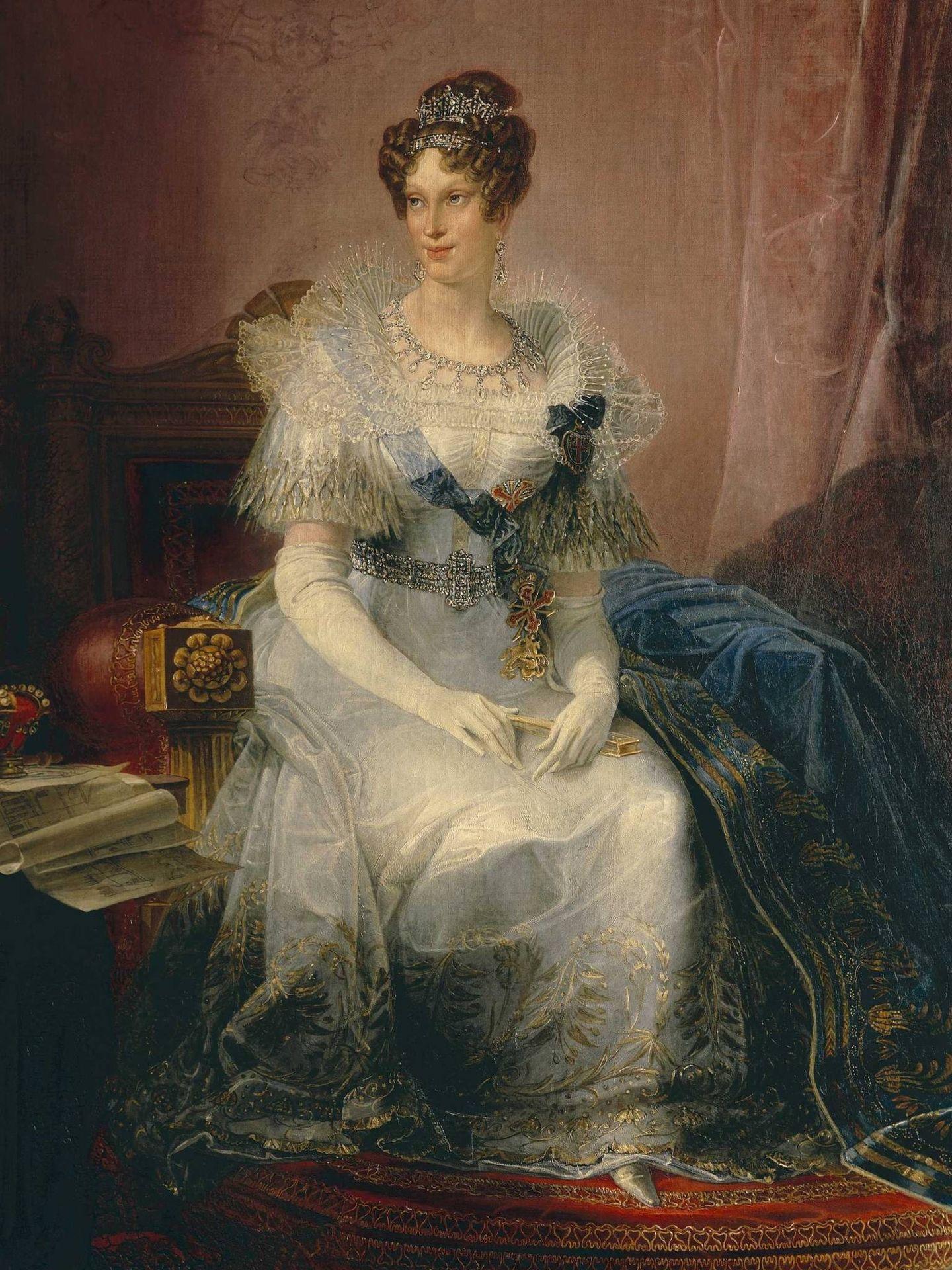 Retrato de Maria Luisa de Austria pintado por Giovan Battista. (Cordon Pess)