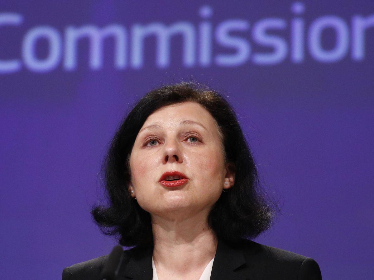 Foto: La vicepresidenta de la Comisión Europea, Vera Jourova. (EFE)