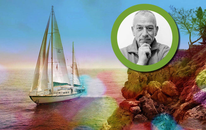 Foto: El empresario filántropo Livio Lo Monaco y su yate 'Astral' (fotomontaje realizado por Vanitatis)