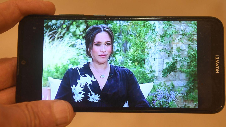 Meghan, durante la entrevista. (EFE)